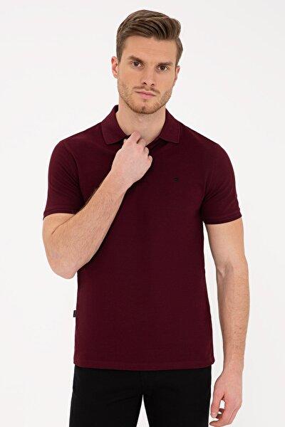 Bordo Erkek Polo Yaka T-shirt G021Gl011.000.1286351