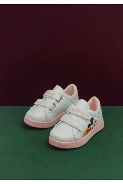 Kız Çocuk Beyaz Pudra Spor Ayakkabı