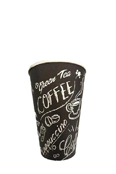 Karton Bardak 12 Oz 100'lü Green Tea Coffee Siyah Bardak