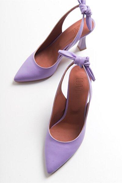 Kadın Lila Topuklu Kadın Sandalet 601