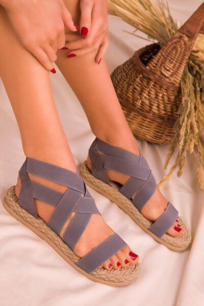 Gri  Kadın Sandalet 16059