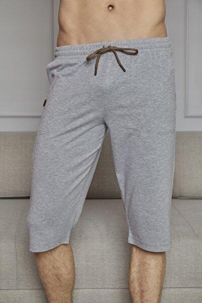 Erkek Gri Ince Tek Alt Çok Rahat Pamuk Kapri Pijama