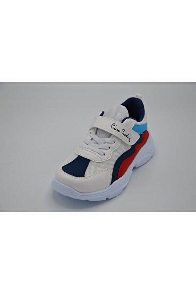 31-35 Beyaz Lacivert Çocuk Spor Ayakkabı/beyaza Lacivert/33 Numara