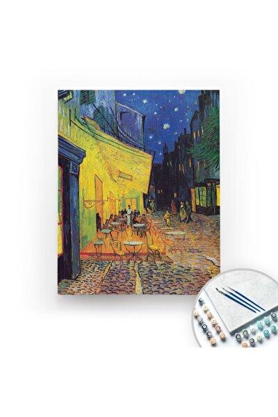 Van Gogh, Cafe Terrace At Night - Tuval Üzerine Sayılarla Boyama 40x50cm