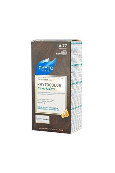 Bitkisel Saç Boyası - Phytocolor Sensitive 6.77 Açık Cappucino Kestane