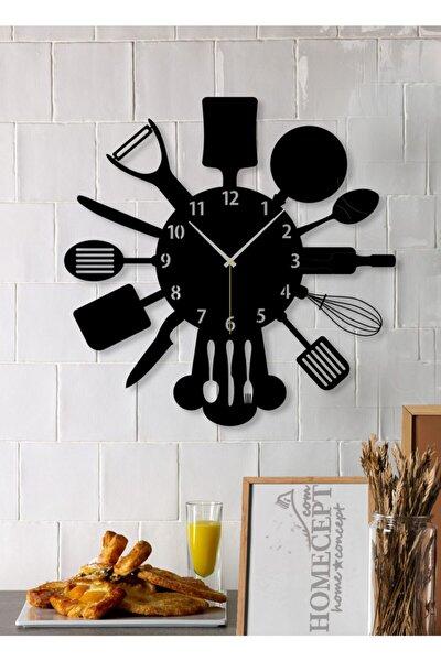 Mutfak Gereçleri Ahşap Duvar Saati 38cm