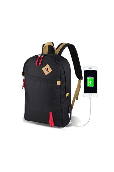 Smart Bag Freedom Usb Şarj Girişli Akıllı Sırt Çantası Siyah