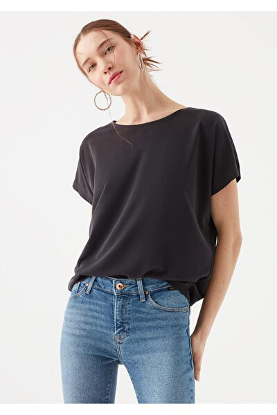 Lux Touch Siyah Modal Tişört