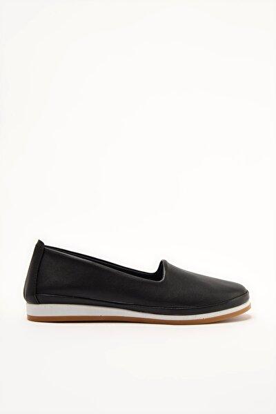 Siyah Kadın Loafer Ayakkabı 01AYY209080A100