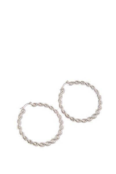 Gümüş Rengi Halka Küpe 198361-24651