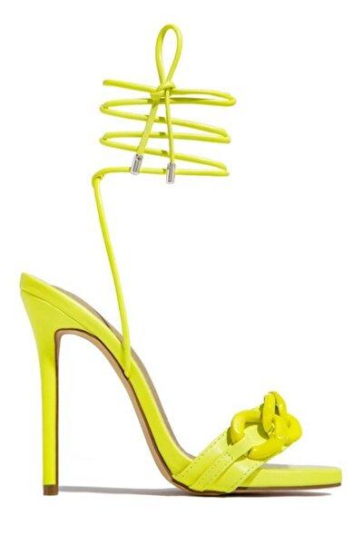 Kadın Sarı Lolatopuklu Sandalet