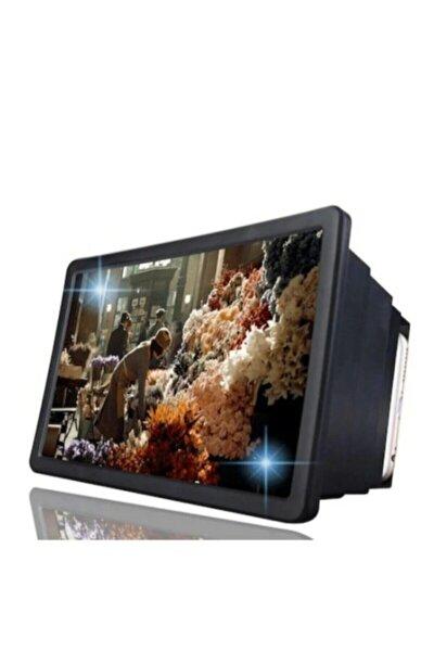 Telefon Ekran Büyüteci Görüntü Büyütme Geniş Ekran Video Ekran Büyütücü 3d Hd Standlı