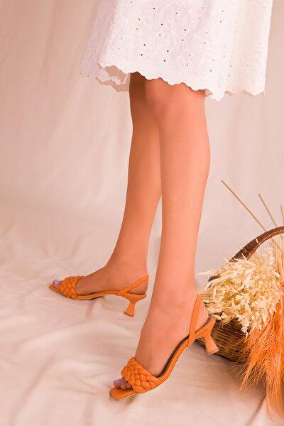 Turuncu  Kadın Klasik Topuklu Ayakkabı 15800