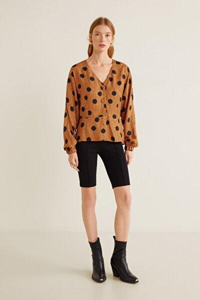 Kadın Kahverengi Bluz 41043016