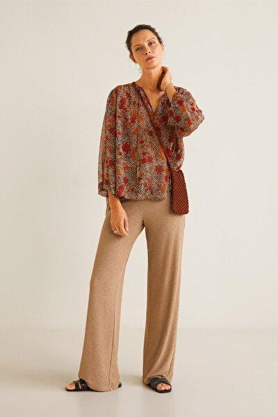 Kadın Kahverengi Bluz 41095032