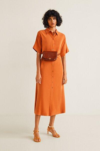 Kadın Parlak Turuncu Elbise 41055758