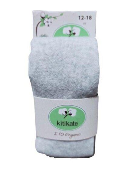 Erkek Bebek  Gri Organik Melanj Külotlu Çorap 52237