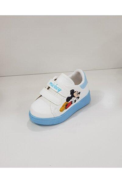 Unisex Çocuk Mavi Beyaz Ayakkabı