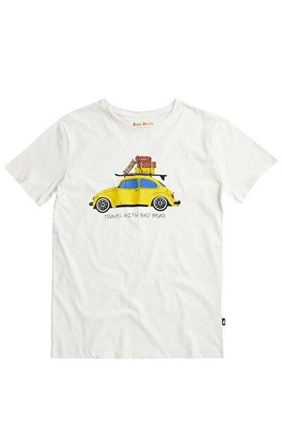 Erkek Beyaz Trave Bear Tee Tişört