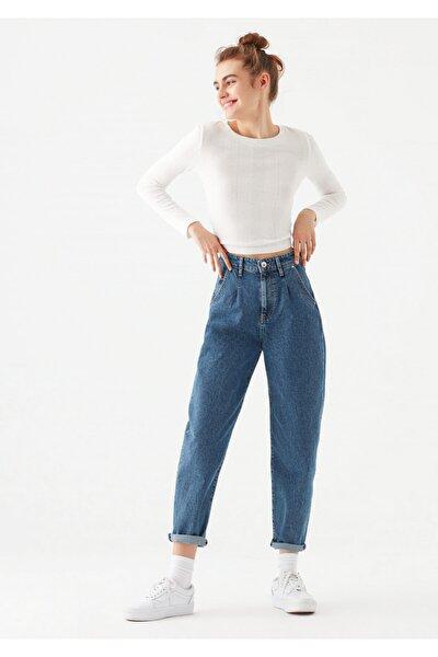 Laura All Blue Koyu Jean Pantolon