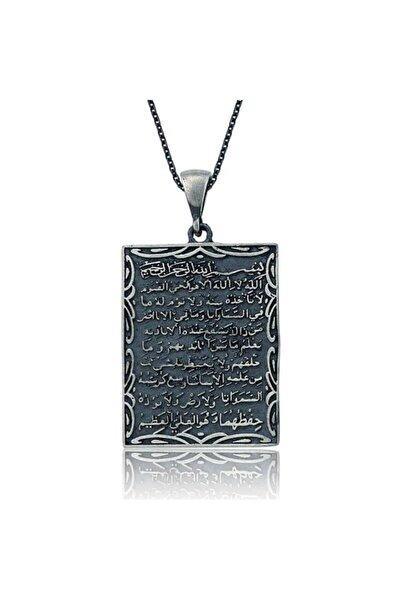 Kadın Gümüş Ayetel Kürsi Kolye 792