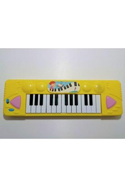 Piyanom Müzik Klavye Org Işıklı 25 Şarkı Işıklı Sarı
