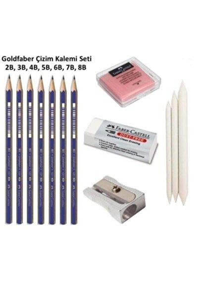 Goldfaber Çizim Seti 2b 3b 4b 5b 6b 7b 8b Dereceli Kalemler 3'lü Dağıtma Kalem,kalemtraş,hamur Silgi