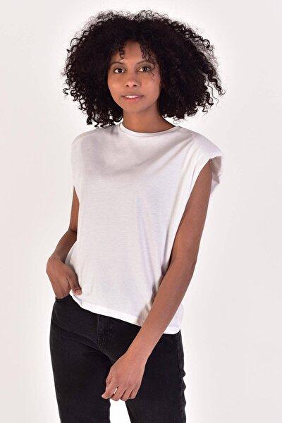 Kadın Beyaz Basic T-Shirt B13100 - W2 Adx-0000022055