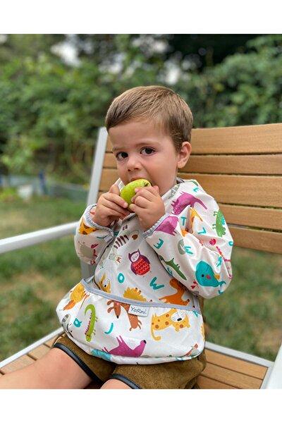Deluxe Uzun Kollu Bebek Mama Önlüğü 2-4 Yaş
