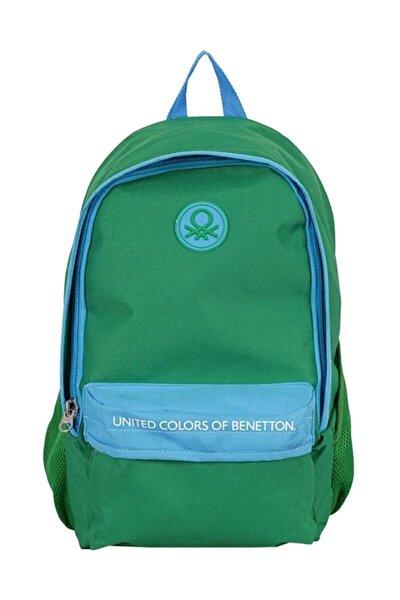 Unisex Yeşil Benetton Okul Sırt Çantası