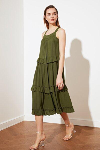Yeşil Geniş Kesim Elbise TWOSS20EL1768