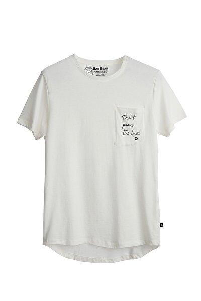 Erkek Kırık Beyaz  T-Shirt