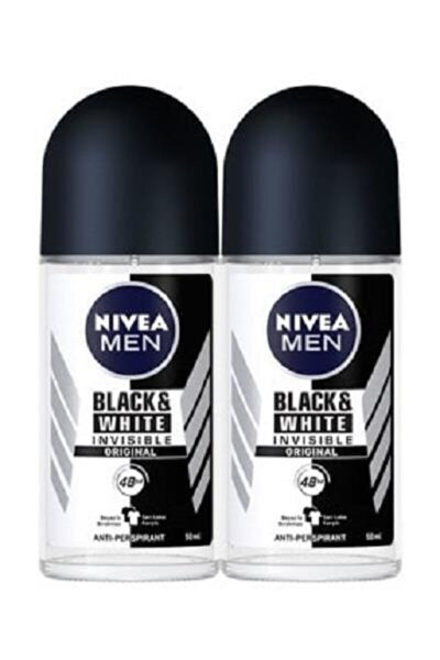 Men Invisible Black White Original Erkek Roll-On 50 ml  2'li