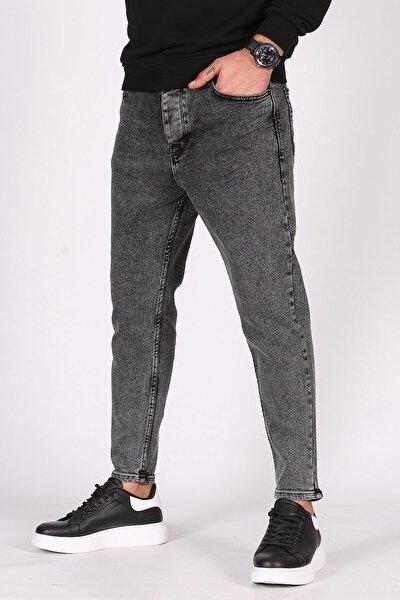 Erkek Koyu Siyah Oversize Jean
