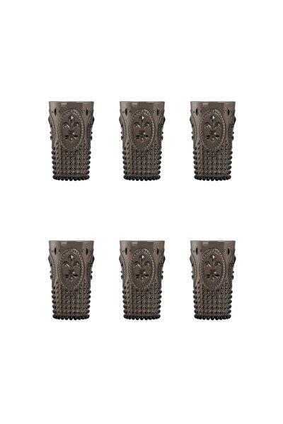 Akrilik Füme Uzun Bardak 3 Bardak + 3 Bardak