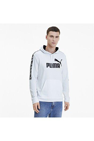 Erkek Beyaz Amplıfıed Antrenman Kapüşonlu Sweatshirt