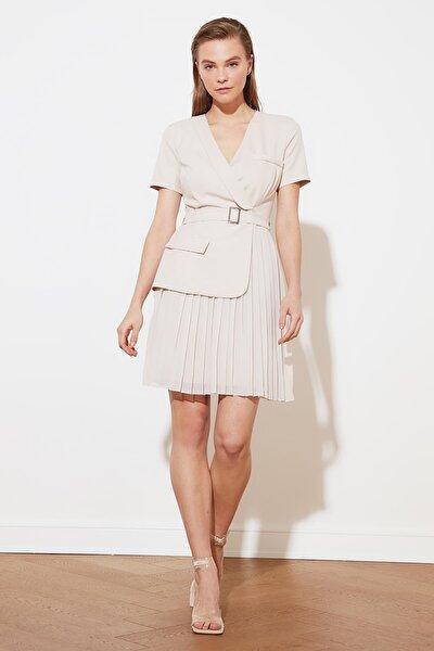 Taş Kemerli Piliseli Elbise TWOSS20EL0909
