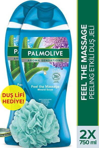 Aroma Sensations Feel The Massage Cilt Yenileyici Duş Jeli 2 X 750 ml + Duş Lifi Hediye