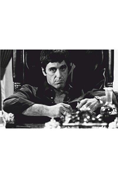Al Pacino Scarface Sinema 70 Cm X 100 Dev Kuşe Poster (silindir Kolili Kargo Ile)