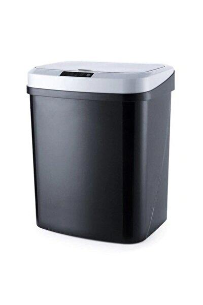 Ezere 16l Akıllı Çöp Kutusu Otomatik Sensörlu Çop Tenekesi Çöp Kovası Siyah