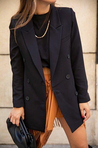 Kadın Kruvaze Blazer Ceket