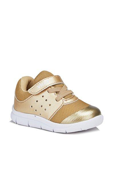 Mario Kız Çocuk Altın Spor Ayakkabı