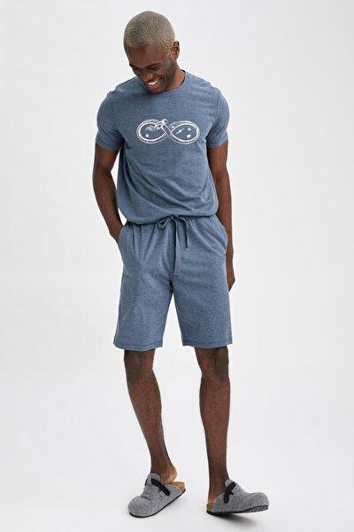 Slim Fit Baskılı Pijama Takımı