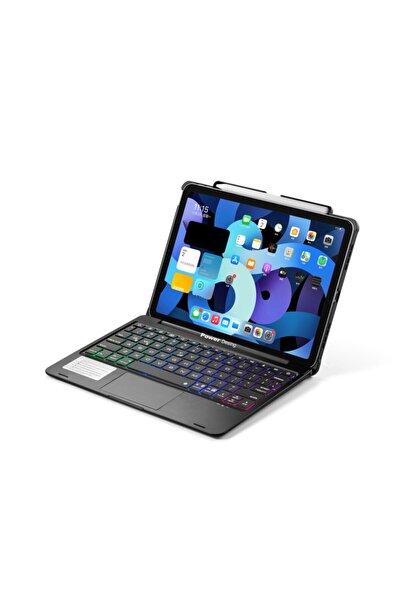 Ipad Air 4.Nesil 10,9 Inç Uyumlu Mouse ve Işıklı Tuşlar Klavyeli Kılıf