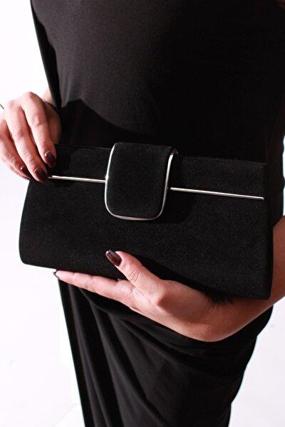 Siyah Suet Kadın Çanta