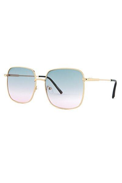 Kadın Basic Altın Güneş Gözlüğü Apss037605