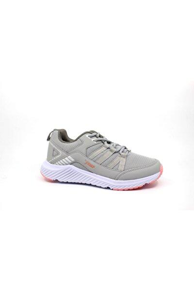 24866 Gri - Açık Somon Kadın Spor Ayakkabı