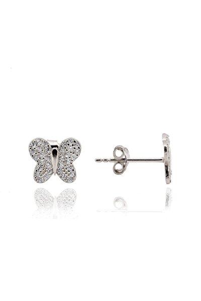 Kelebek Model Gümüş Küpe