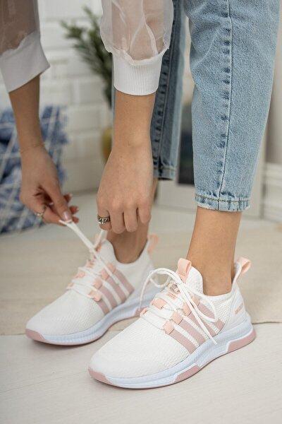 Beyaz-pudra Kadın Sneaker 1998