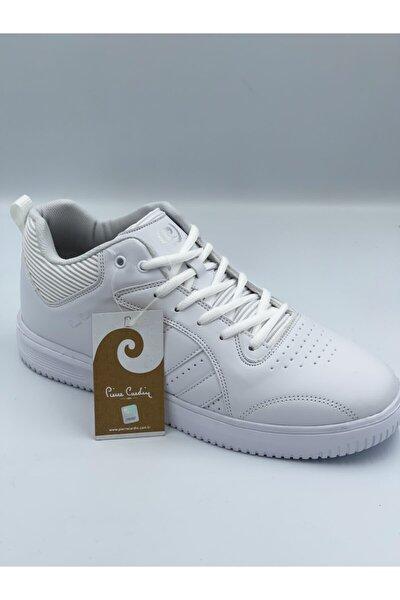 Beyaz Cilt Bilekli Spor Ayakkabı
